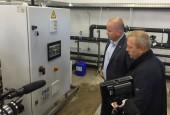 В городе Дедовск, городской округ Истра, запускают в работу новую блочно-модульную станцию очистки воды