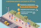 На портале «Добродел» проходит сбор предложений по ремонту и строительству тротуаров вдоль автомобильных дорог в 2019 году.