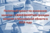 Пилотный проект по взиманию налогов с самозанятых граждан запустят в Московской области в 2019 году