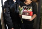 В Истре полицейские и общественники приняли участие в акции «8 Марта - в каждый дом»