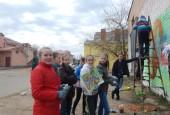 Истринские школьники и молодогвардейцы – участники областного конкурса граффити «Целый мир помнит их в лицо»