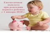 Ежемесячная выплата производится по достижению ребёнка 1,5 лет.