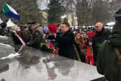 В рамках мероприятий по празднованию 77-й годовщины начала контрнаступления советских войск в битве за Москву сегодня у вечного огня в деревне Ленино прошла масштабная патриотическая акция.