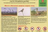 Минэкологии: на севере Подмосковья установлены 22 щита с информацией о редких видах фауны